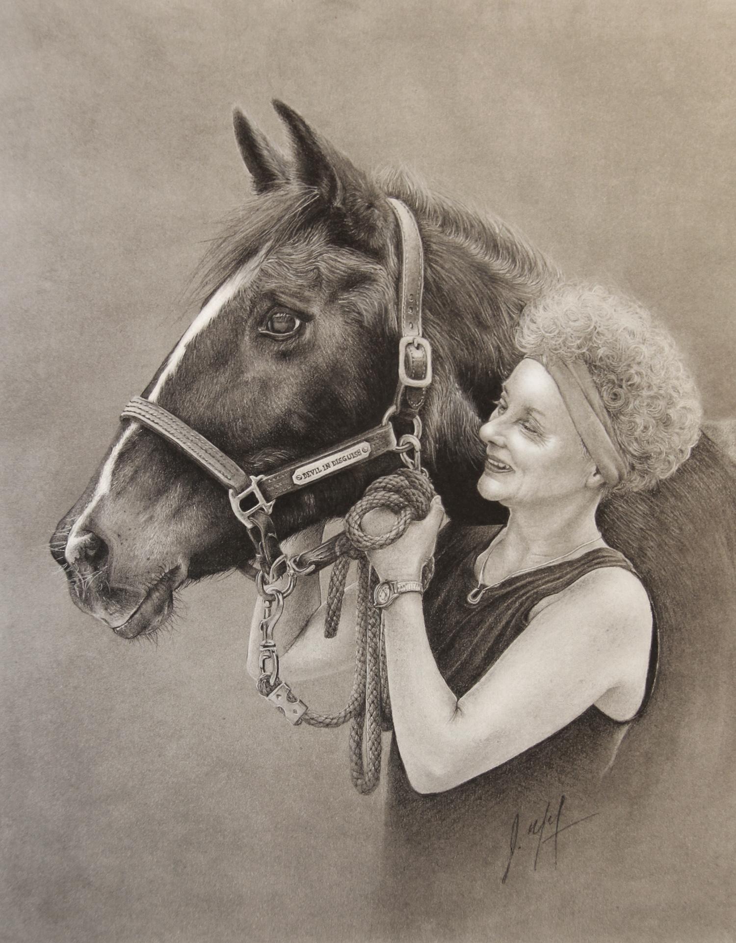HORSE AND HANDLER PORTRAIT