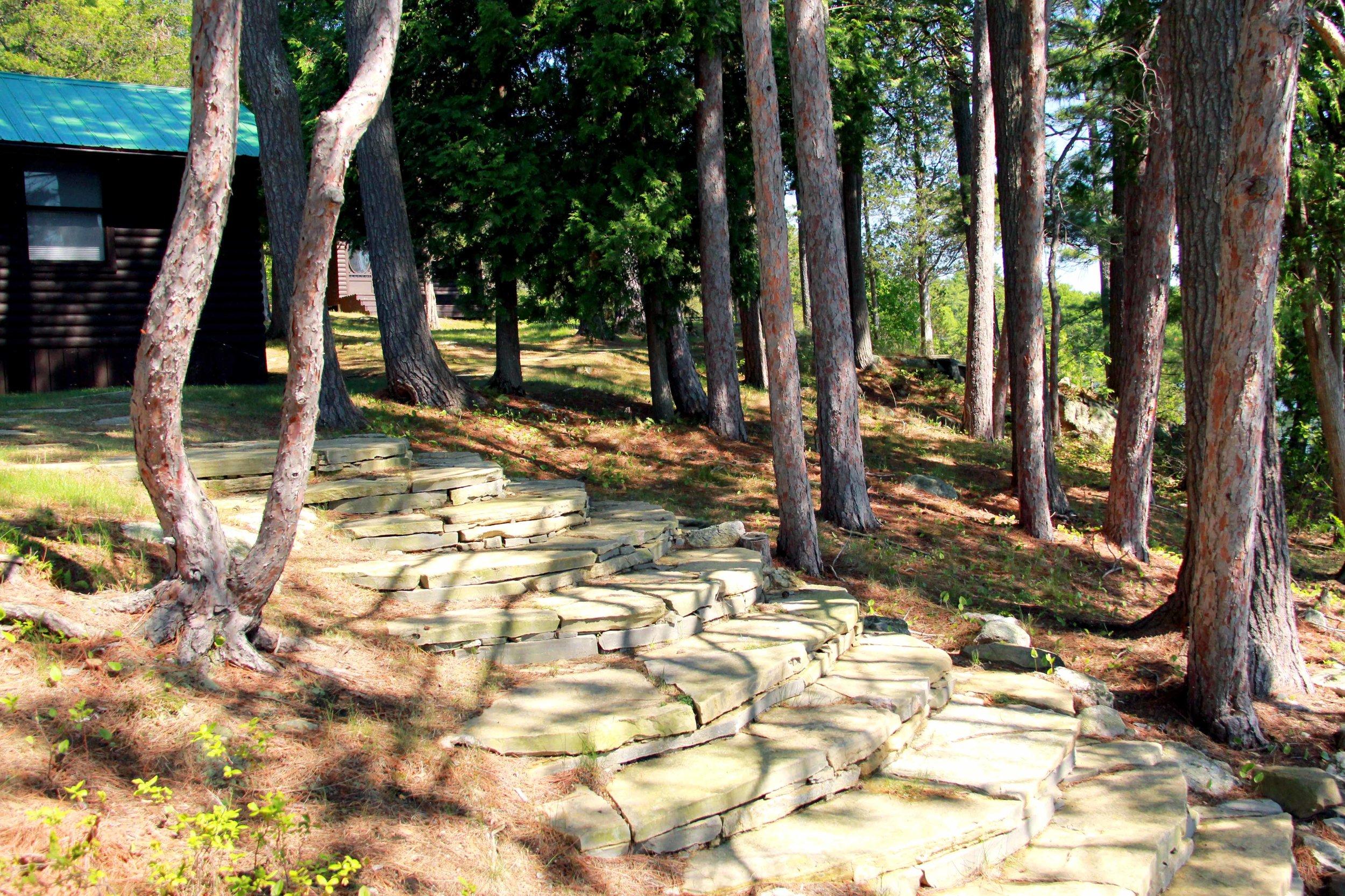 Riverview Design Solutions_Charleston Lake Cottage_Stone Steps.jpg