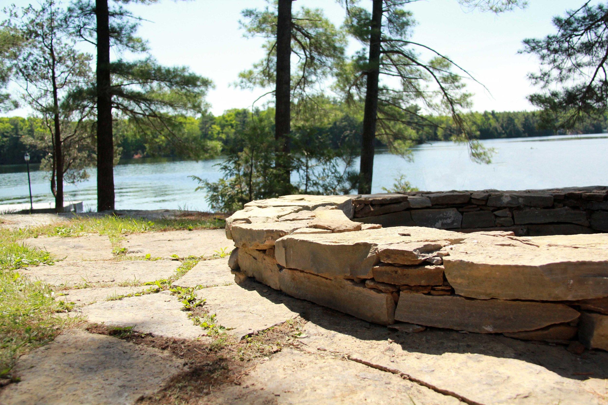 Riverview Design Solutions_Charleston Lake Ontario_Drylaid Stone Fire Pit.jpg
