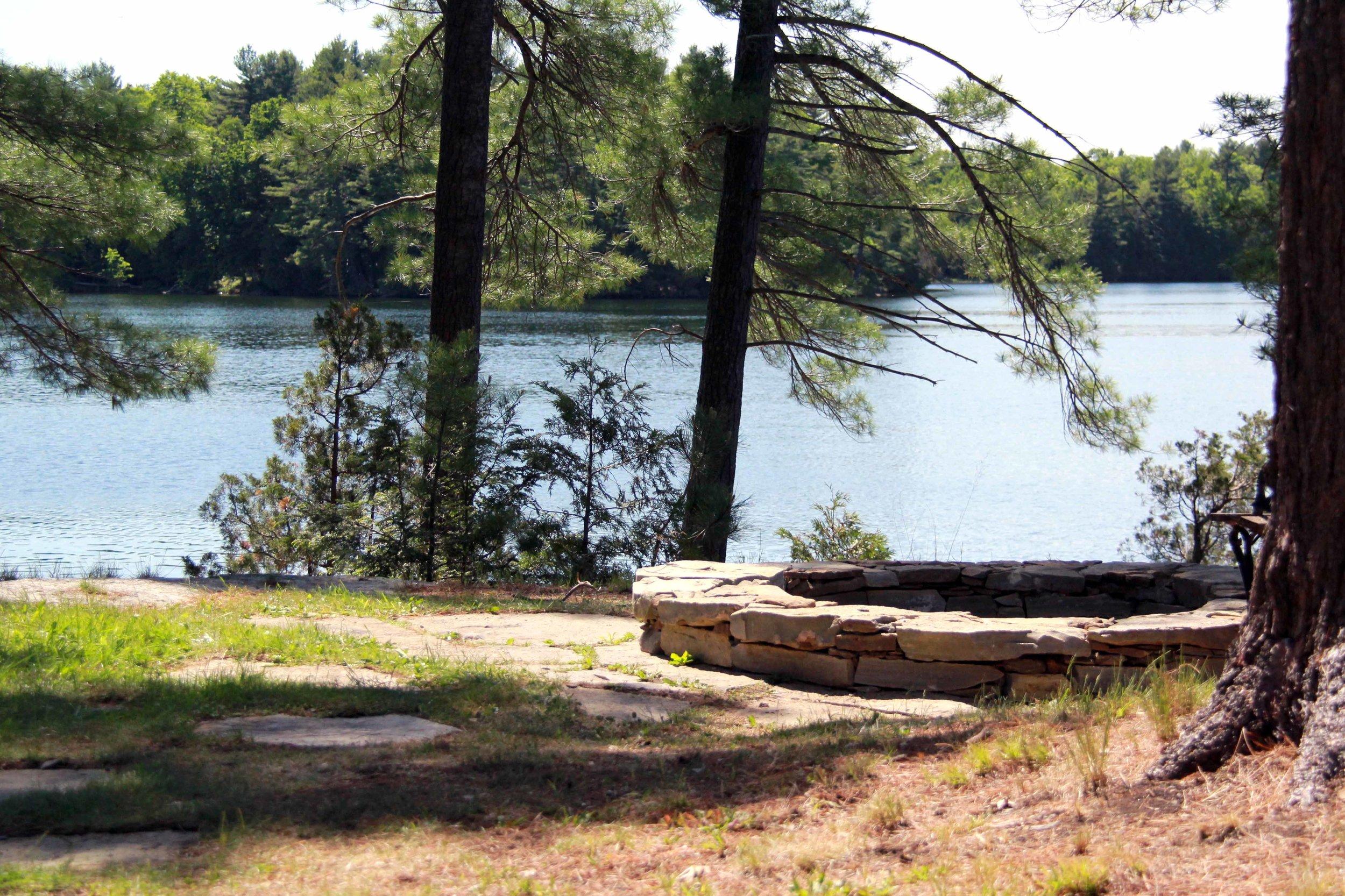 Riverview Landsape_Charleston Lake Cottage_Stone Fire Pit.jpg