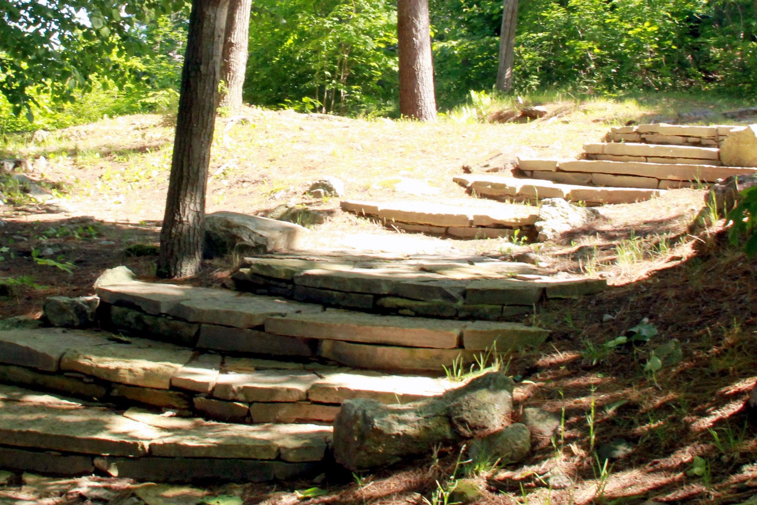 Dry lay stone steps Charleston Lake.jpg