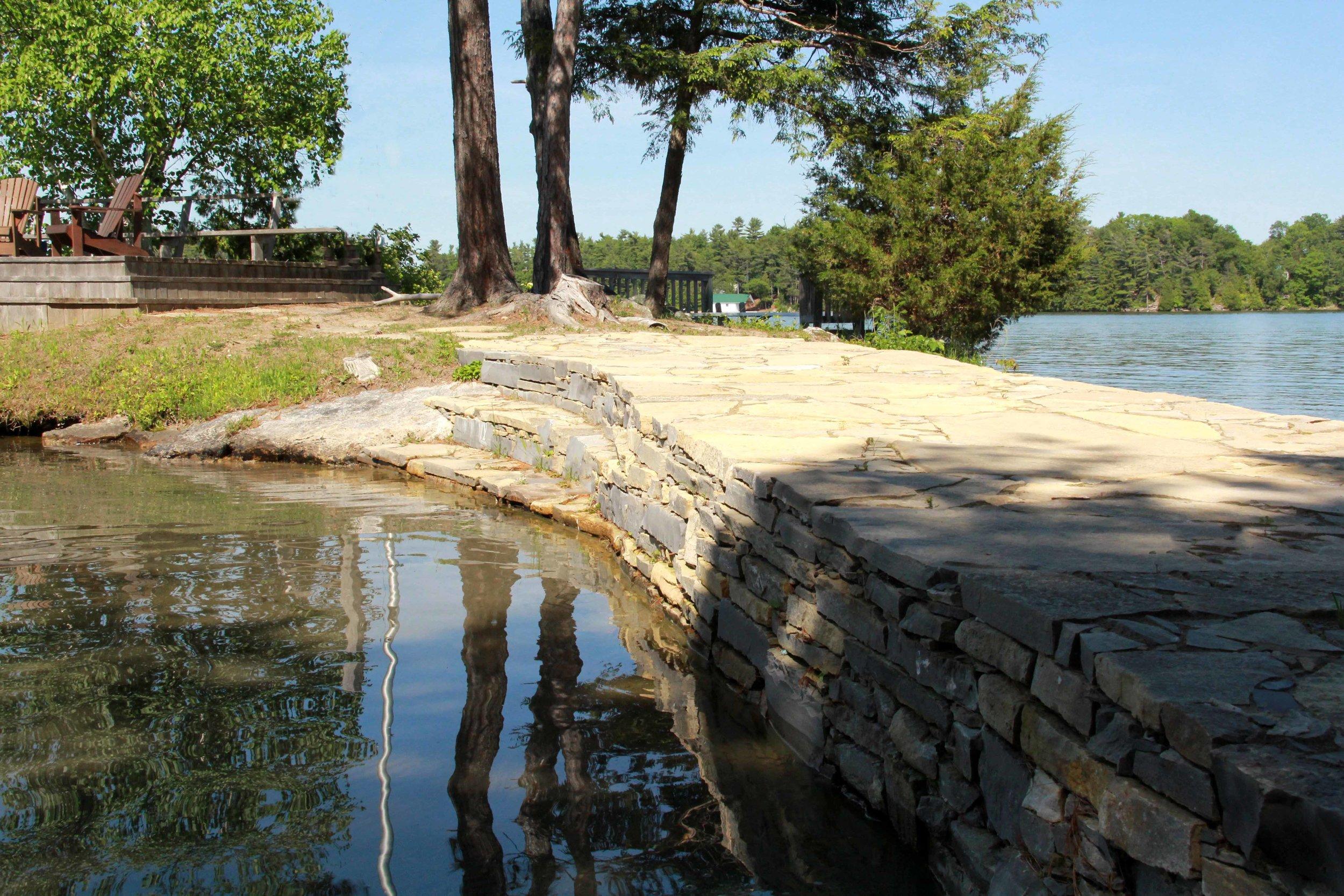 Riverview Design Solutions_Charleston Lake Cottage_Drylaid Stone Causeway - Copy.jpg