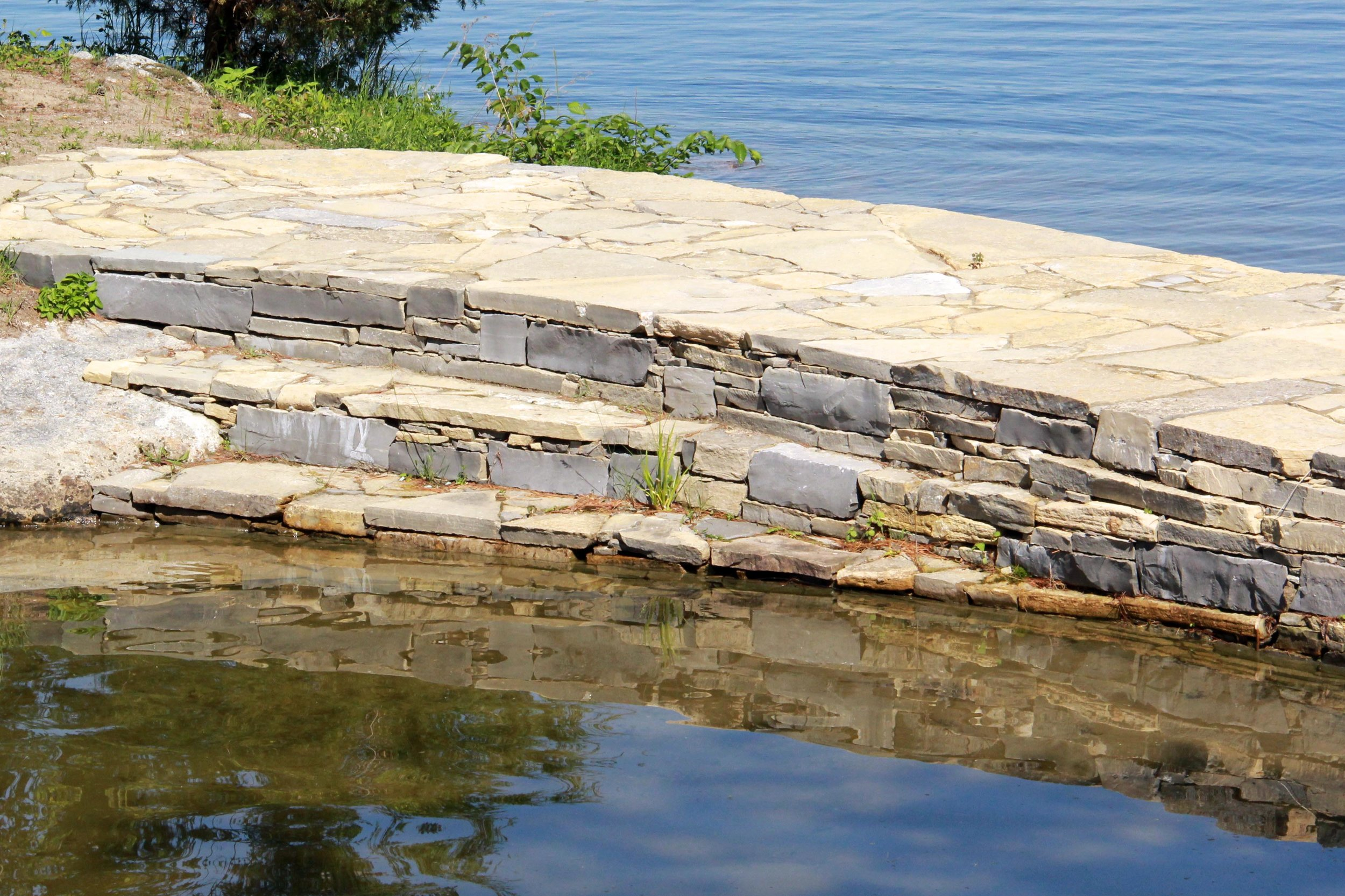 Riverview Landscape _ Charleston Lake _ Dry lay Stone Walkway _ Steps - Copy.jpg