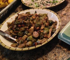 Maple-Roasted Brussel Sprouts with Toasted Hazelnuts