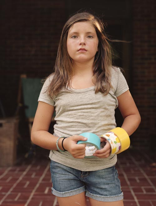 Emma with duck tape (2011)