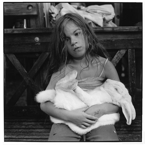 Simone with rabbit (2009)