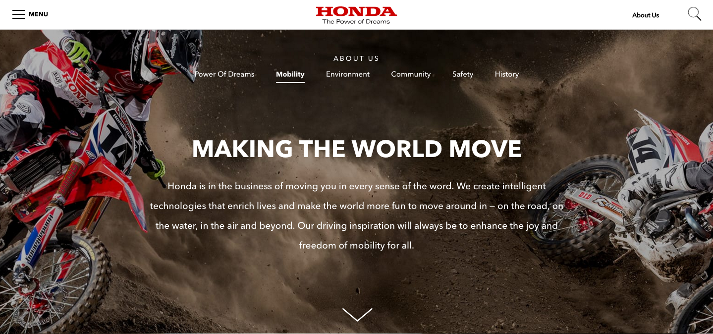 """Honda Mobility —  """" We make the world more fun to move around in... """""""