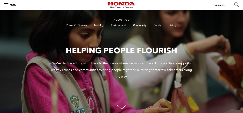 "Honda Community —  ""Nurturing tomorrow    's dreamers along the way...  """
