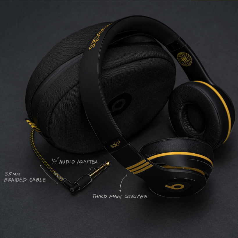 For this custom collaboration, the headphones were crafted to accommodate both wireless play and direct turntable plug-in. All part of that Third Man Records feel.