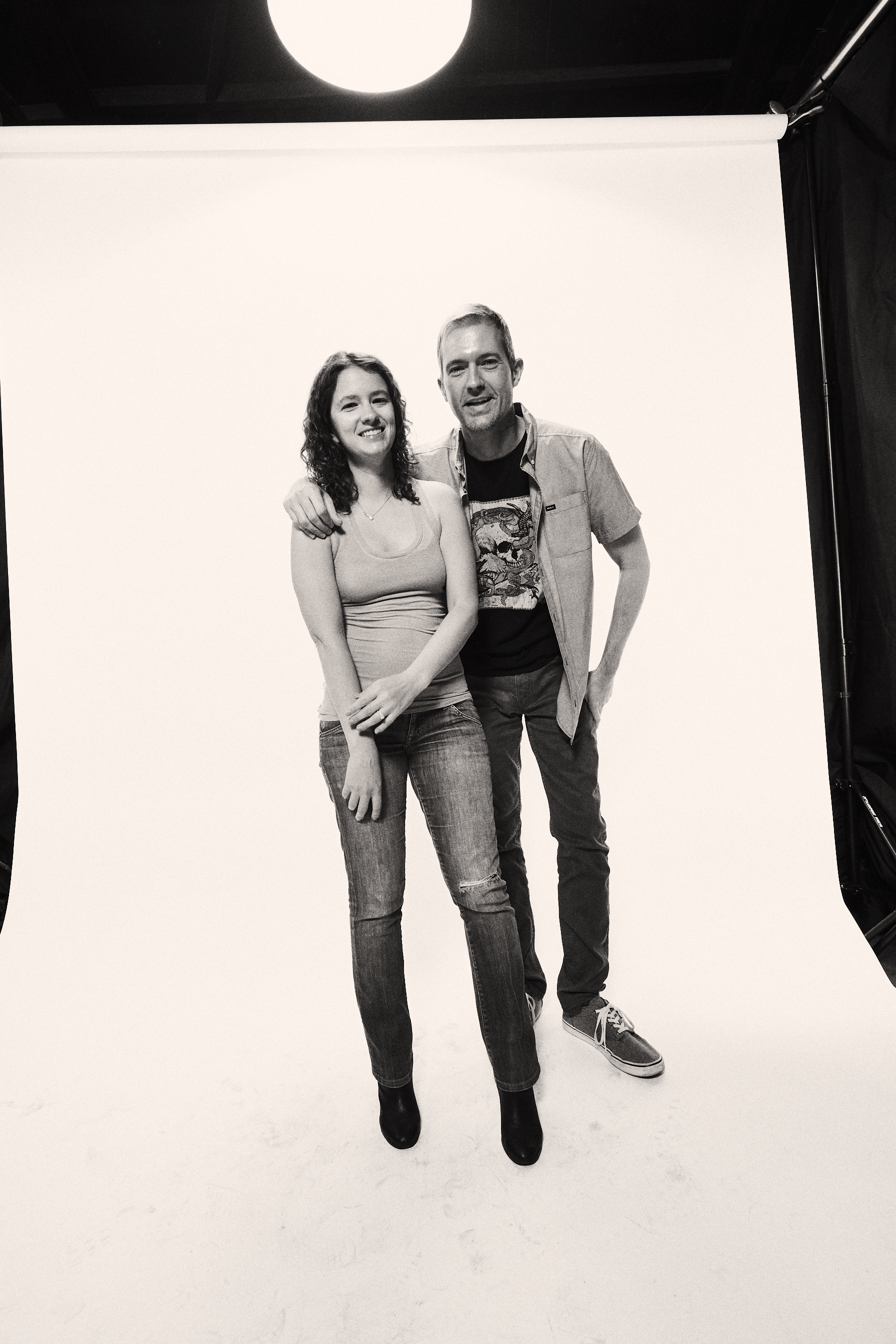 Me (the dork on the right) and the missus (the wonderful Dr. Vanessa Spooner), photographed by  Mike Miller  (!).