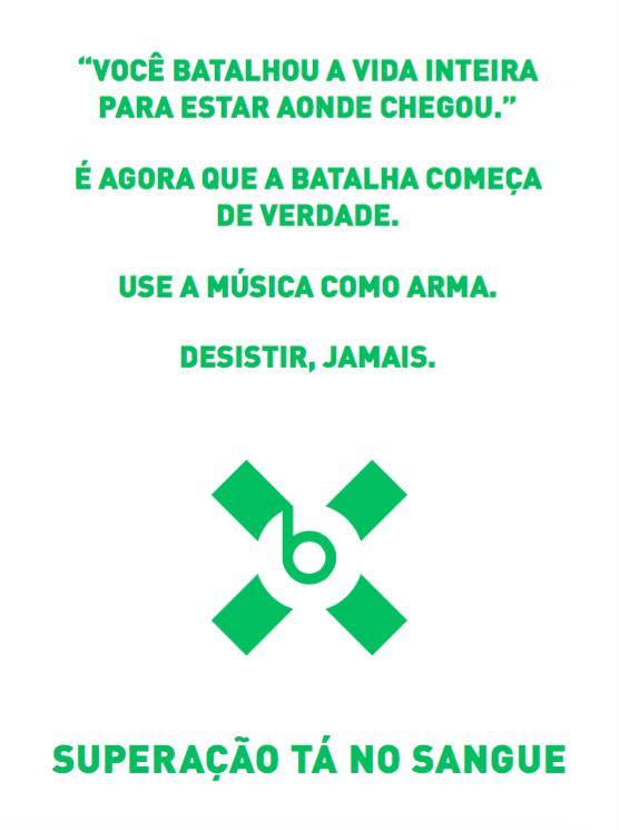 Seeding card for frontrunner Brazil.