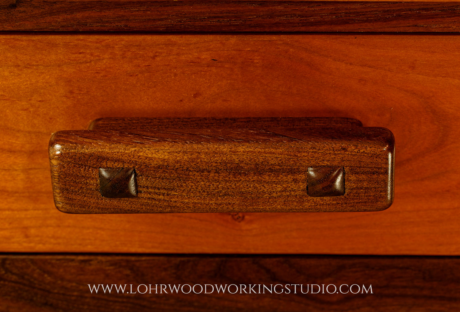 Handmade Walnut Drawer Pull