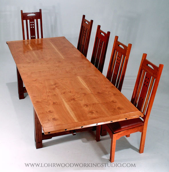 Arts & Crafts Style Cherry Dining Table Top