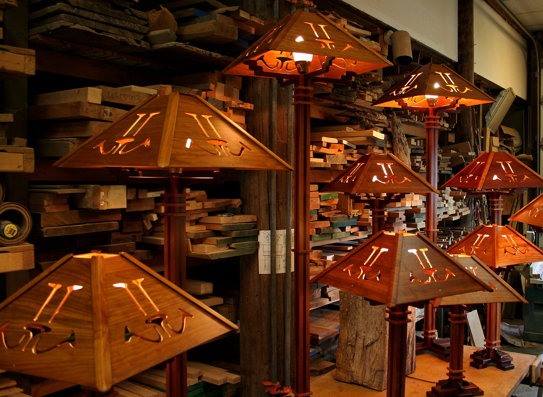 Handmade Wooden Lamps Illuminated.jpg