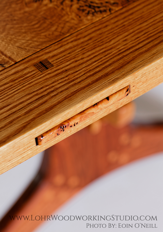Live Edge Dining Table Oak Breadboard Ends