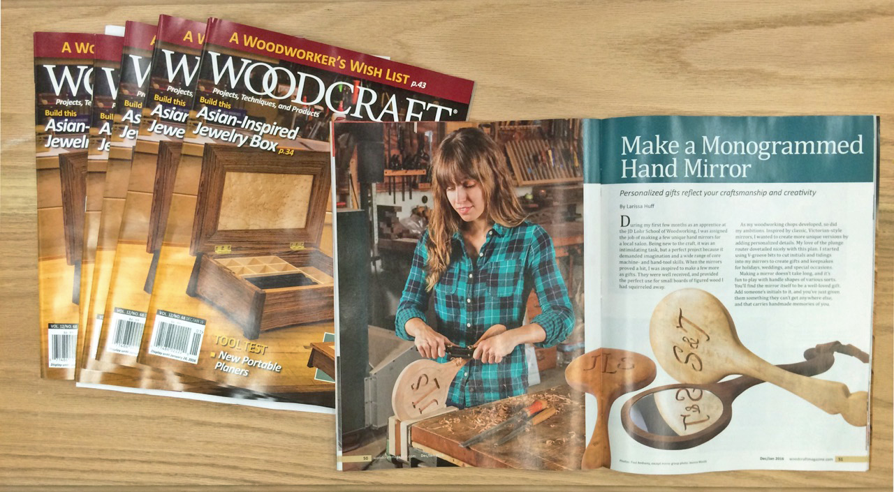 Photos in article taken by Paul Anthony for  Woodcraft Magazine