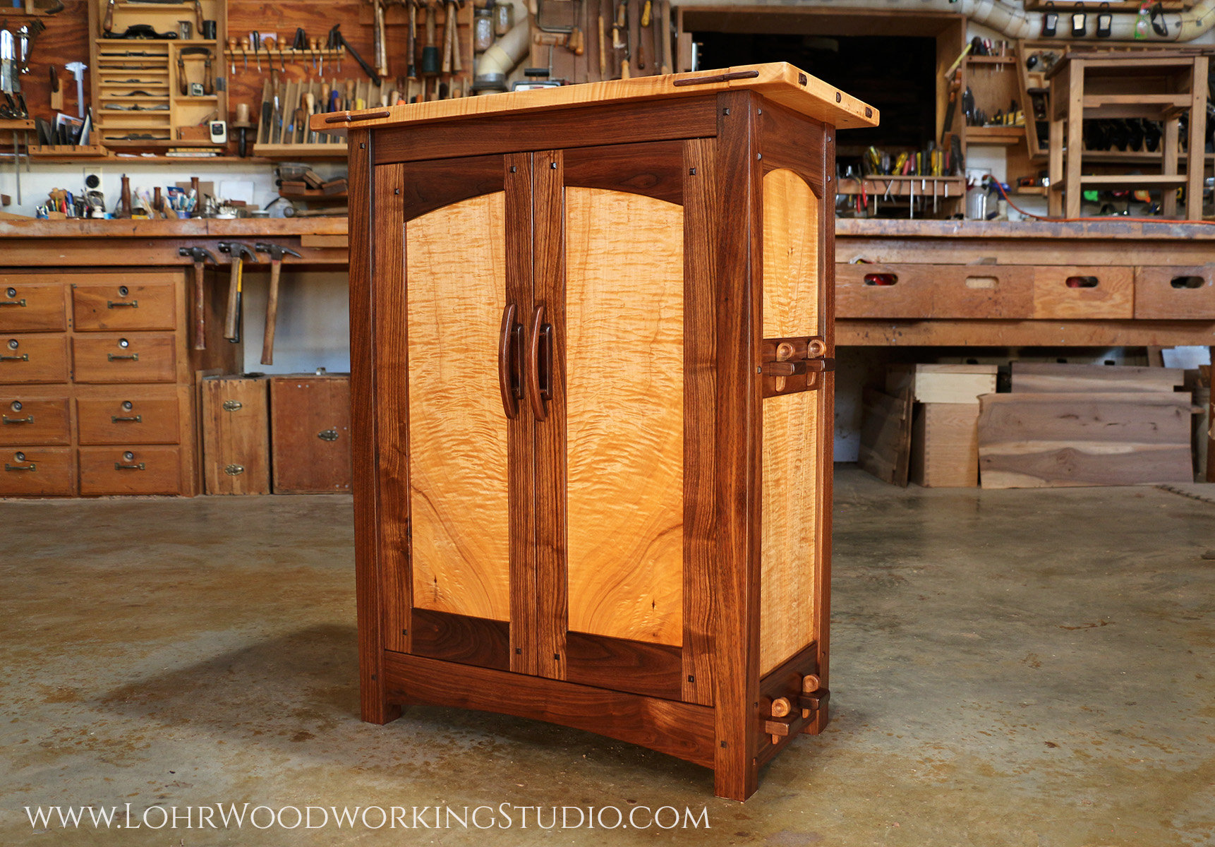 Walnut Maple Floor Console Cabinet (Lohr watermark).jpg