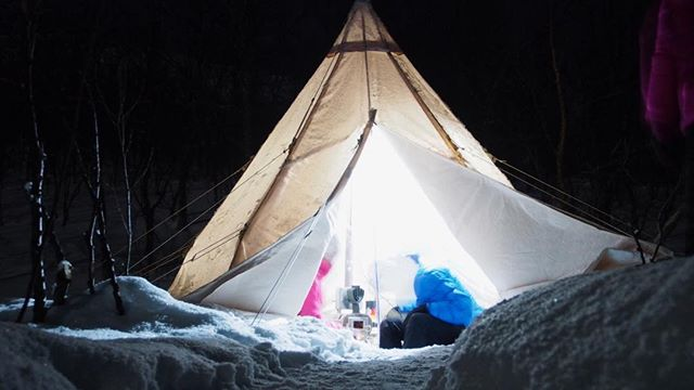 A night in the lavvu  #lavvuarcticcamp,#gstove,#fjällräven,#nordisk