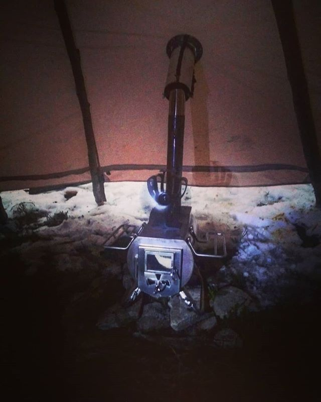 The Gstove is set in the first Lavvu at the Lavvu Arctic Camp in Finnmark #gstove