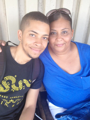 Adilka's mother and brother