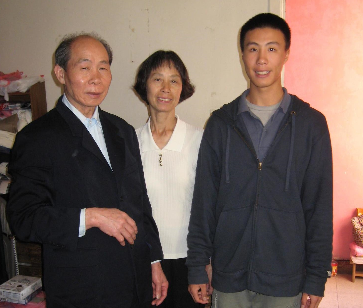 Kwai Fong Tsui with her husband and son.