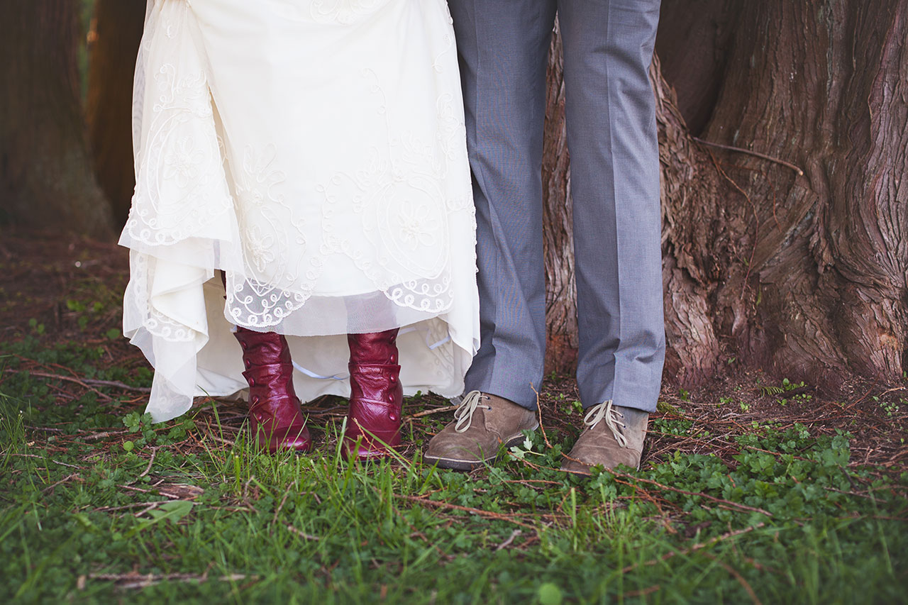 Must capture the wedding day footwear! . ..and  Amy, thanks for finding the perfect boots!