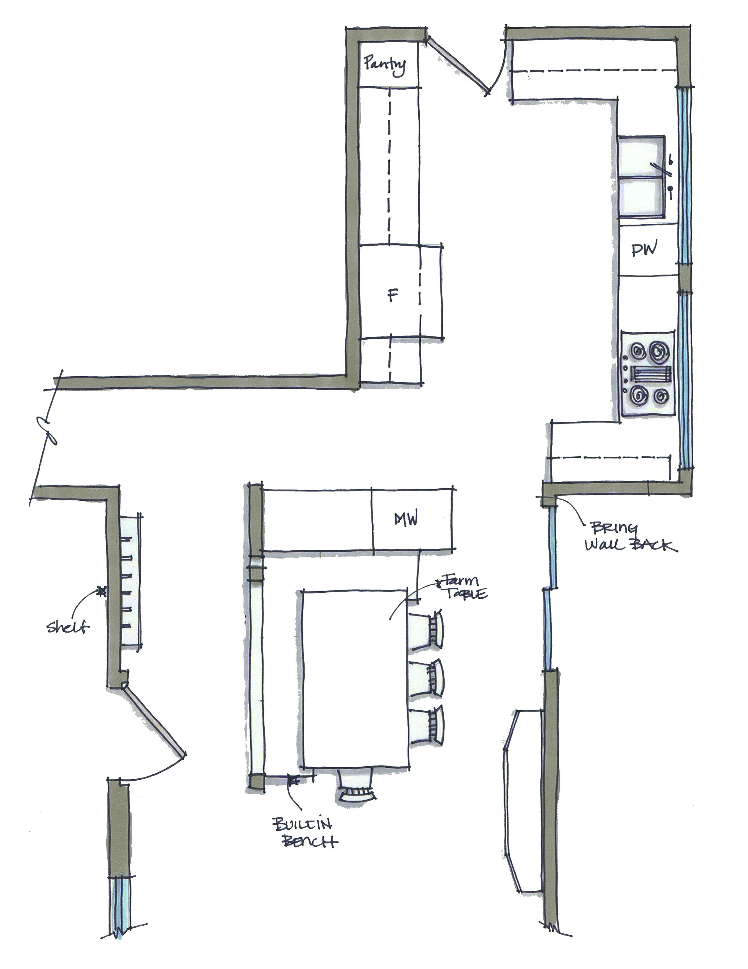 North Shirley Kitchen Floor Plan