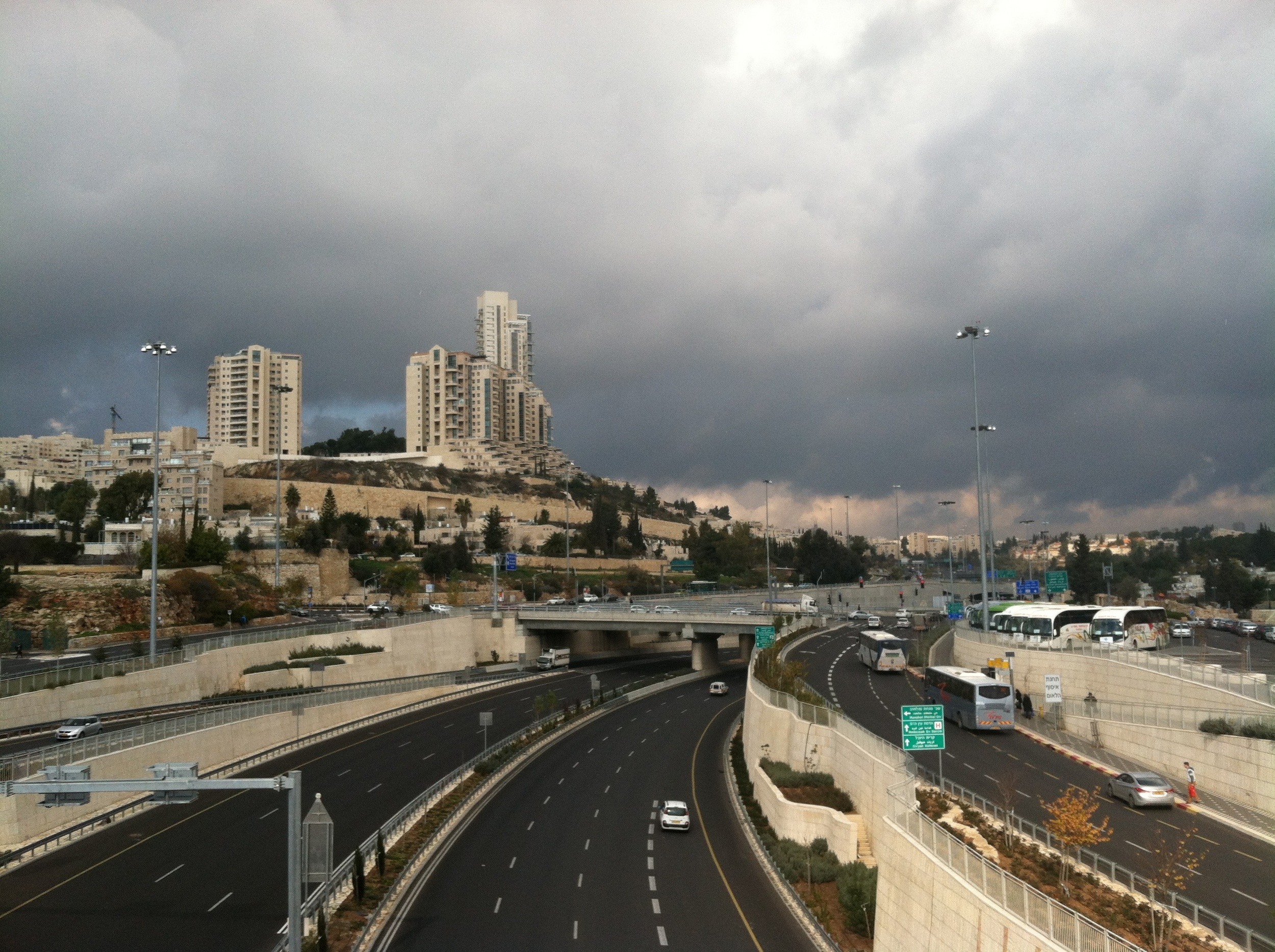 Highway in the Holy City  (Jerusalem, 12/30/15)