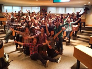 Beautiful Sloanies of the Pacific Ocean rocking plaid after our last midterm! We did it