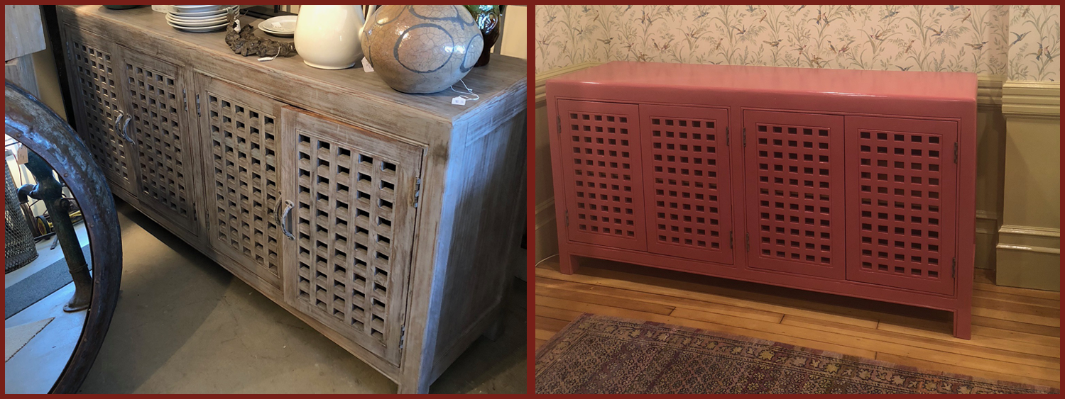 Credenza: a fresh coat of paint
