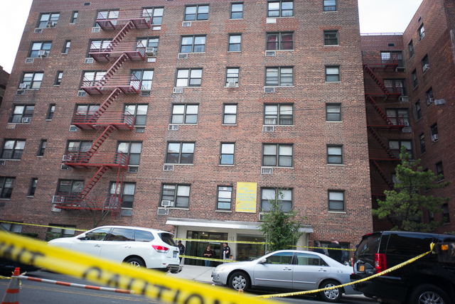 Firefighters responded to a report of a fire at 143-40 Roosevelt Ave. in Flushing early Tuesday and discovered three bodies set ablaze with their throats slashed.