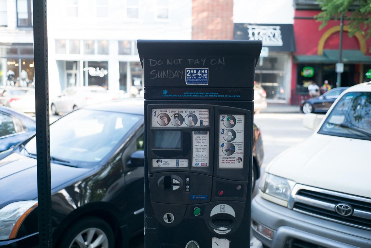 Parking meter, Athens, GA.