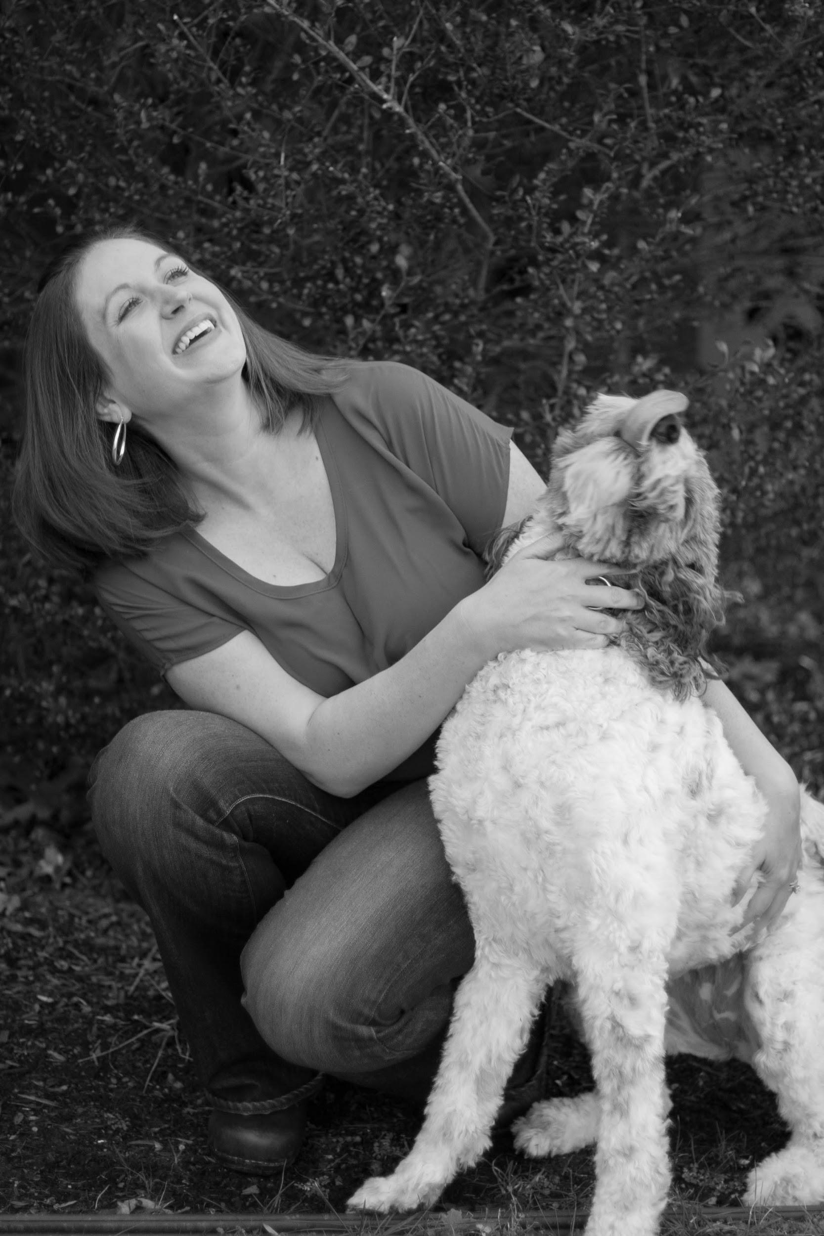 Stephanie English, LCSW    is a member of the Association of Pet Loss and Bereavement. We chose to shoot her with her own beloved pet to convey her deep understanding of the love we have for our animals.