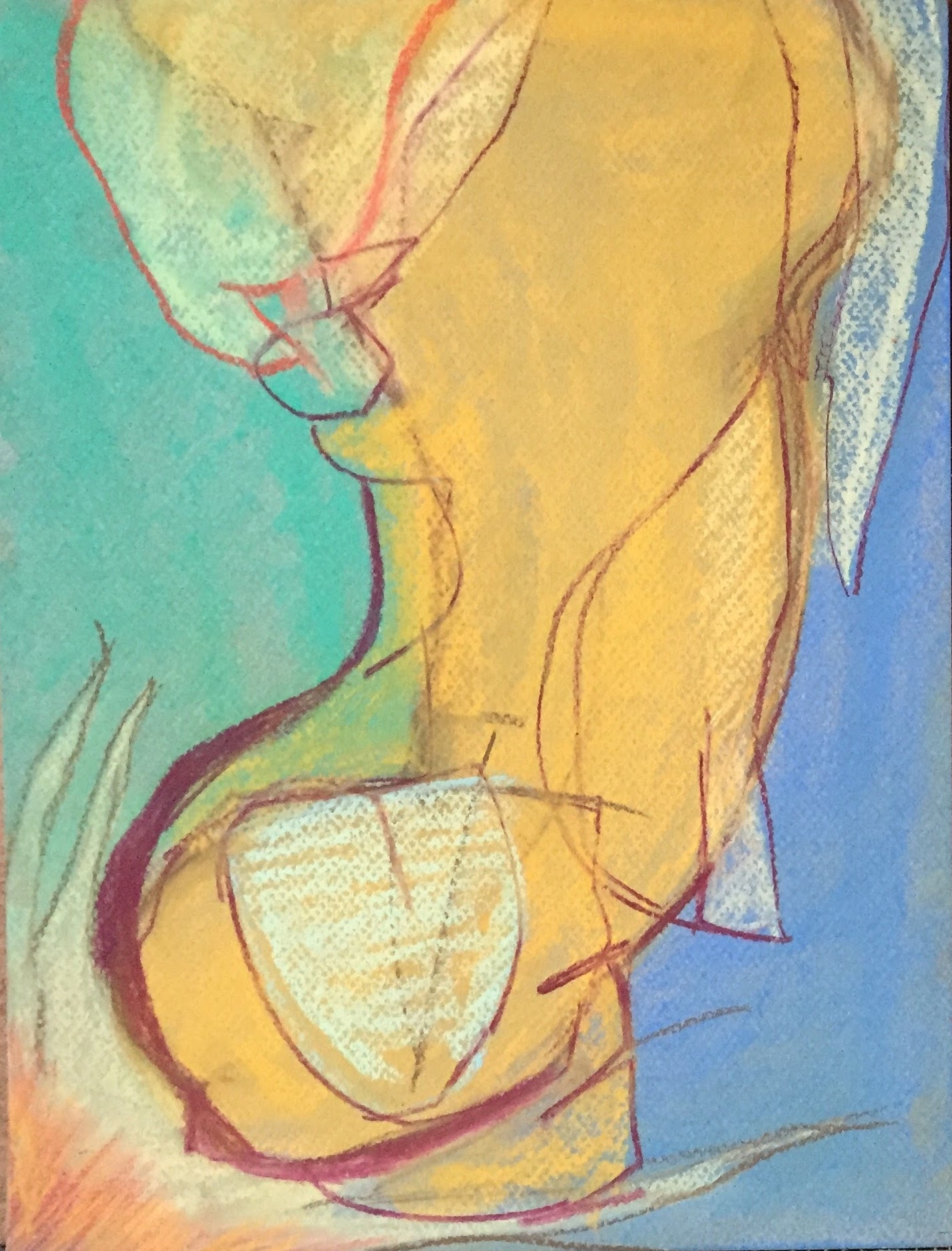Anima 9 x 12 | Pastel on paper