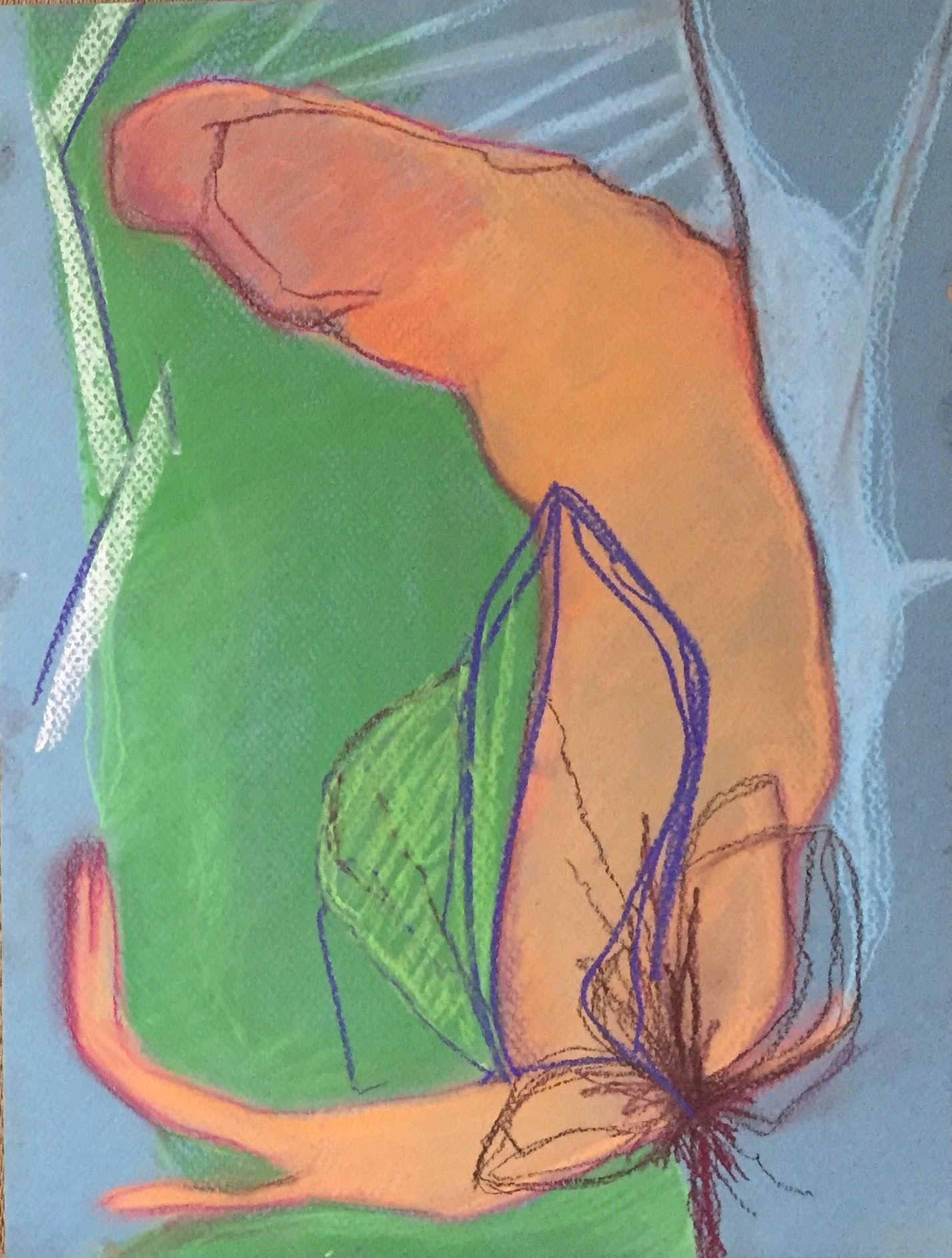 Animus 9 x 12   Pastel on paper