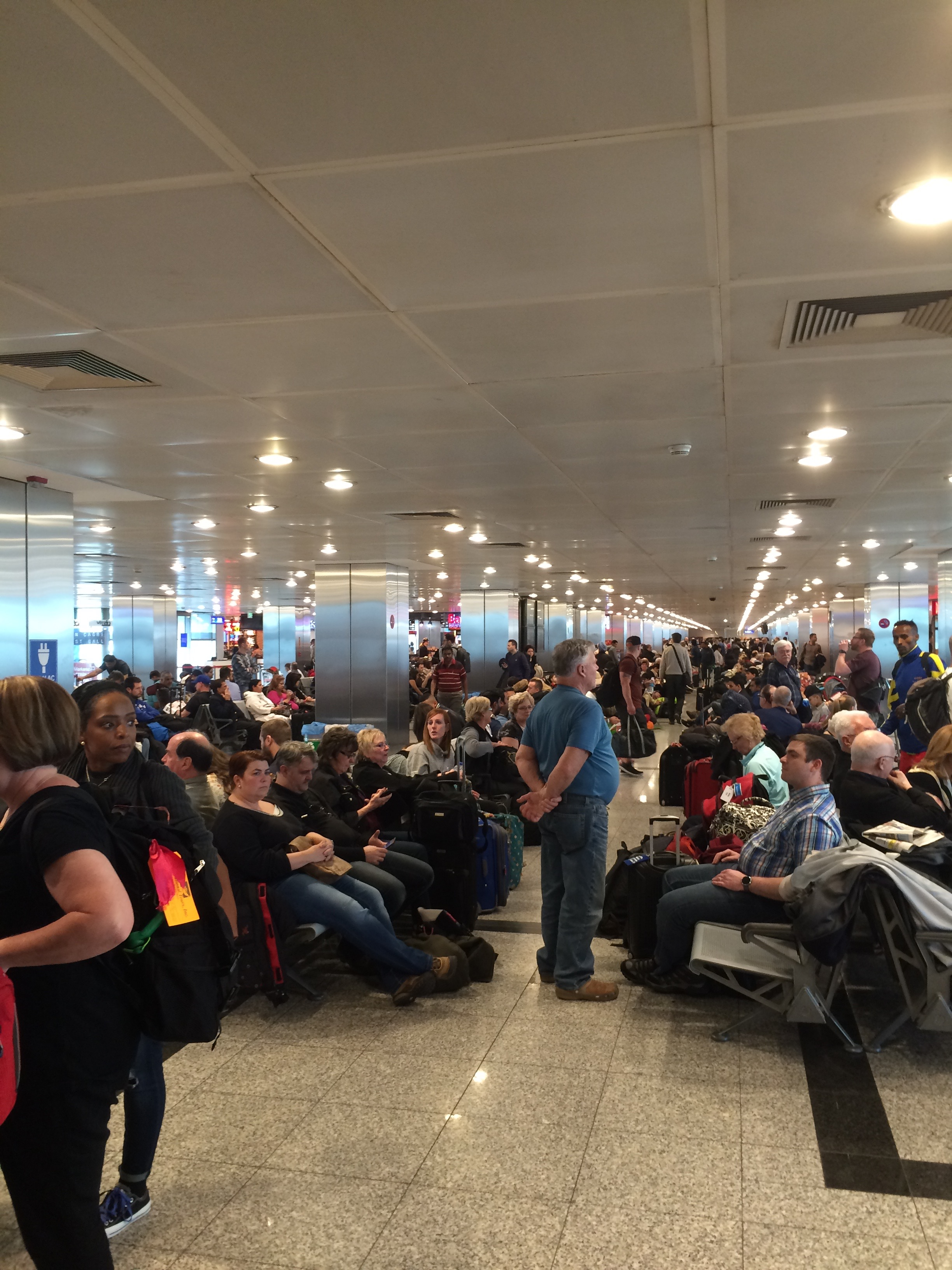 I thought this was it folks. The Istanbul airport in all of its glory.