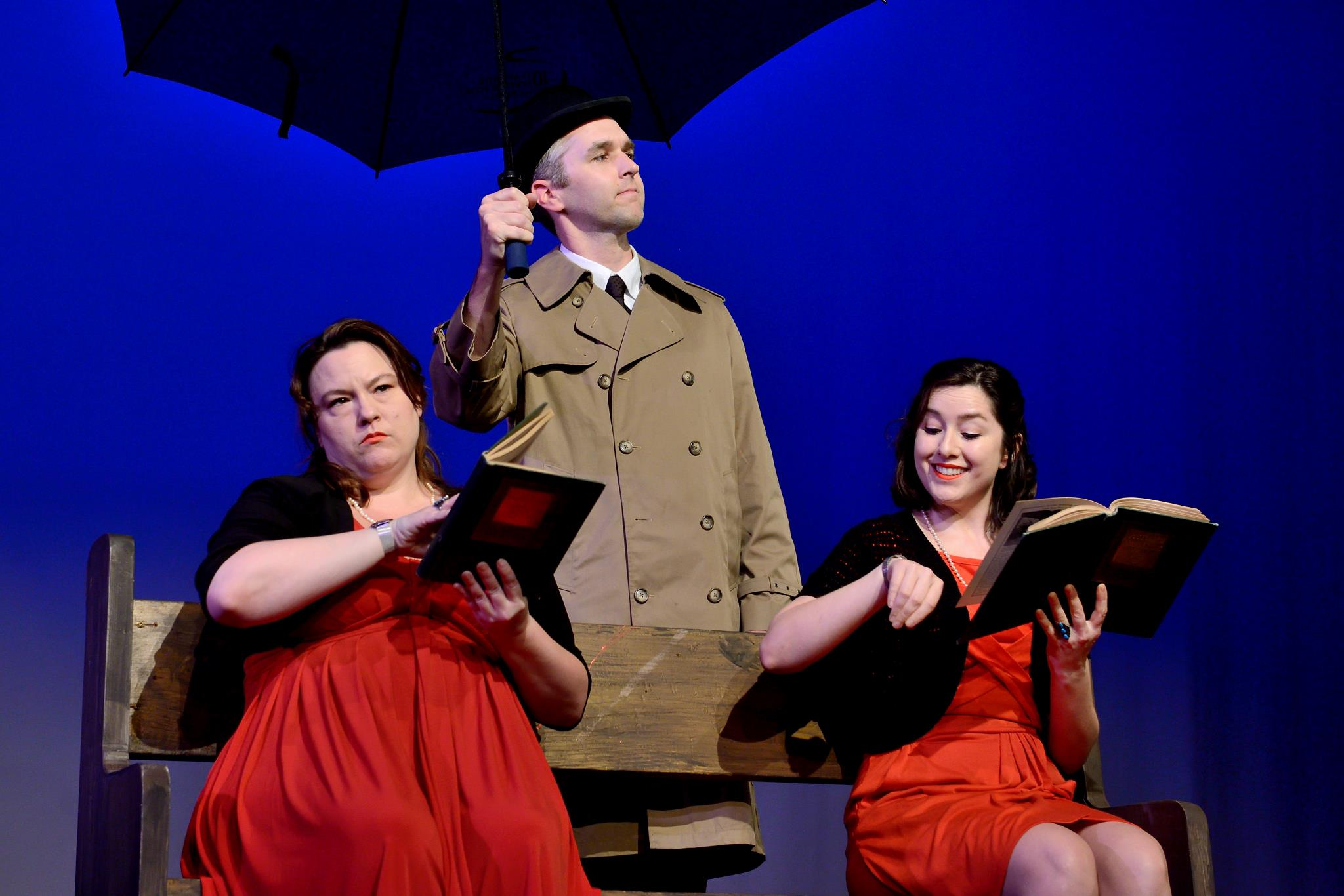 Amelia Meckler, Sam Read, and Wonder Russell in Alfred at 14/48: The World's Quickest Theatre Festival. Photo by Joe Iano.