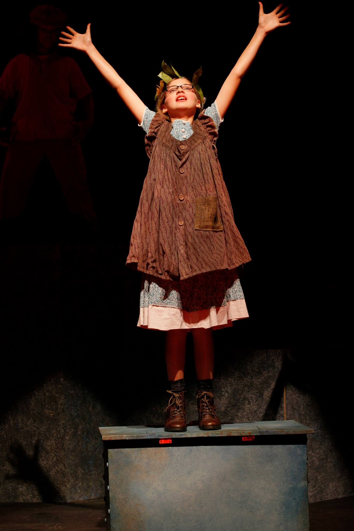 Amelie Whitesell as Gertie in the Seattle Children's Theatre Drama School production of Marvelous, August, 2014.