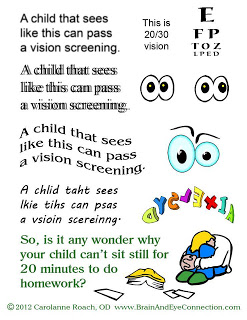Seeing 20/20 is important but it isn't everything. Book an eye exam to make sure your child isn't suffering from an undiagnosed vision problem.