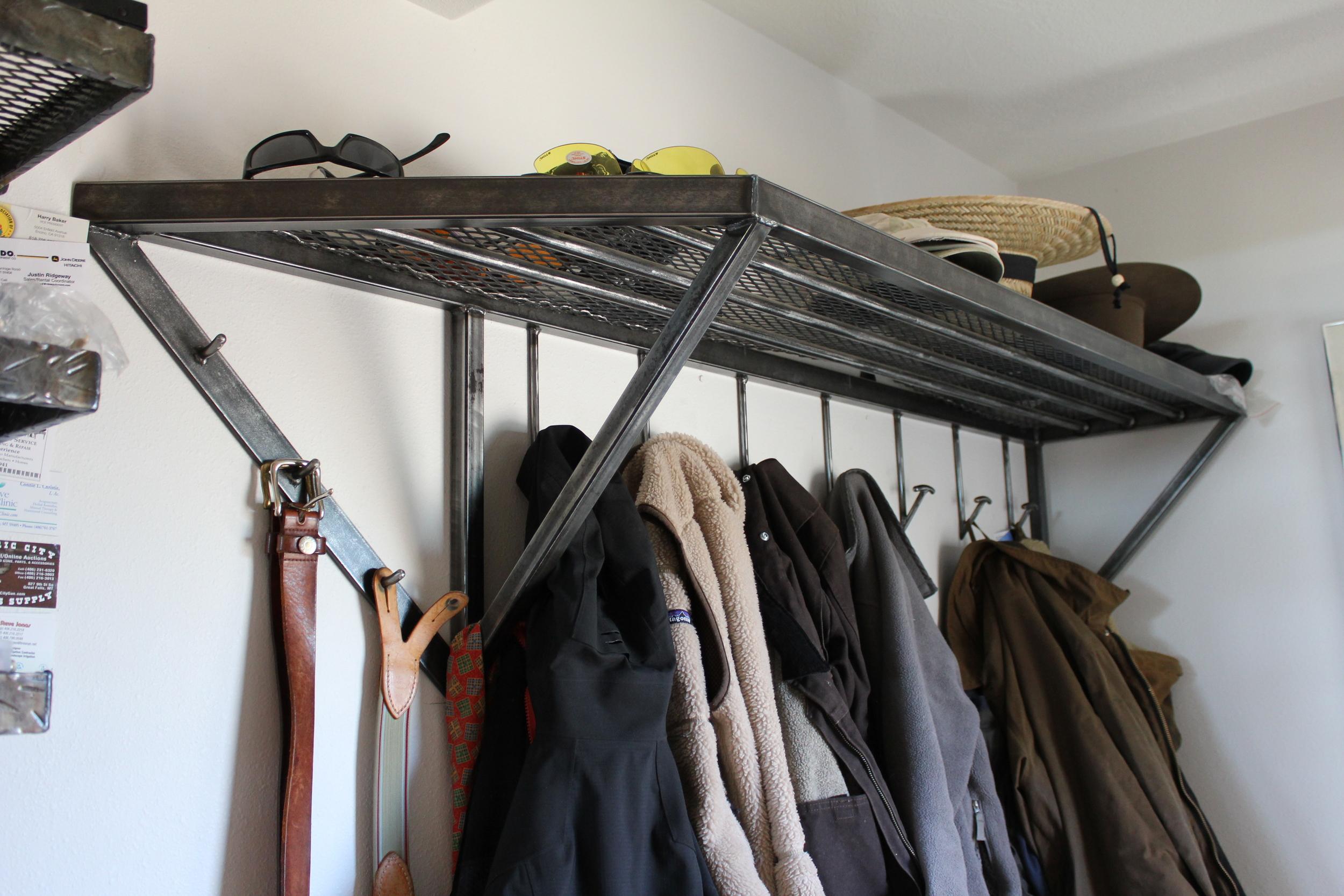 Entrance Coat Rack and Shelf