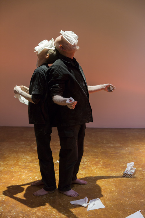 © photo by: Monika Sobczak | Alastair MacLennan and Sandra Johnston,   Let Liminal Loose.   Venice International Performance Art Week 2014