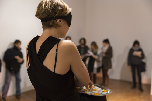 © photo by: Monika Sobczak | Alice Vogler,  Liability of body. Language of liability.  Venice International Performance Art Week 2014