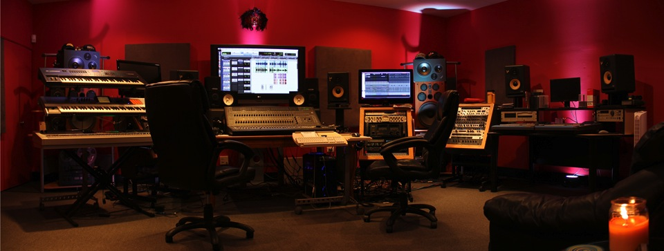 Our state-of-the-art Control Room featuring Pro-Tools 10 HD-3