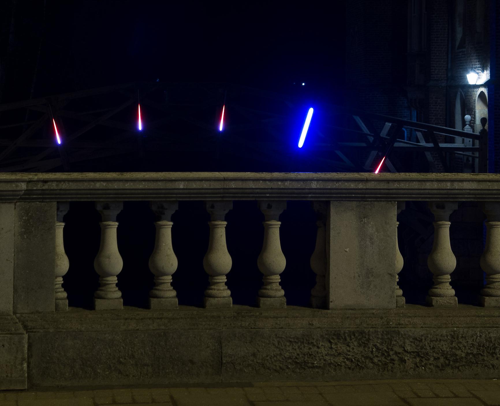 Lighting on Mathematical Bridge, Cambridge