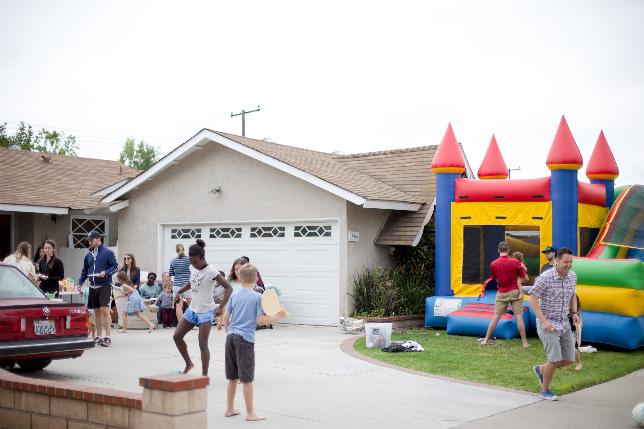 Bounce houses are always a good idea.