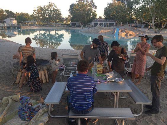 West Irvine CG having a BBQ & Bonfire