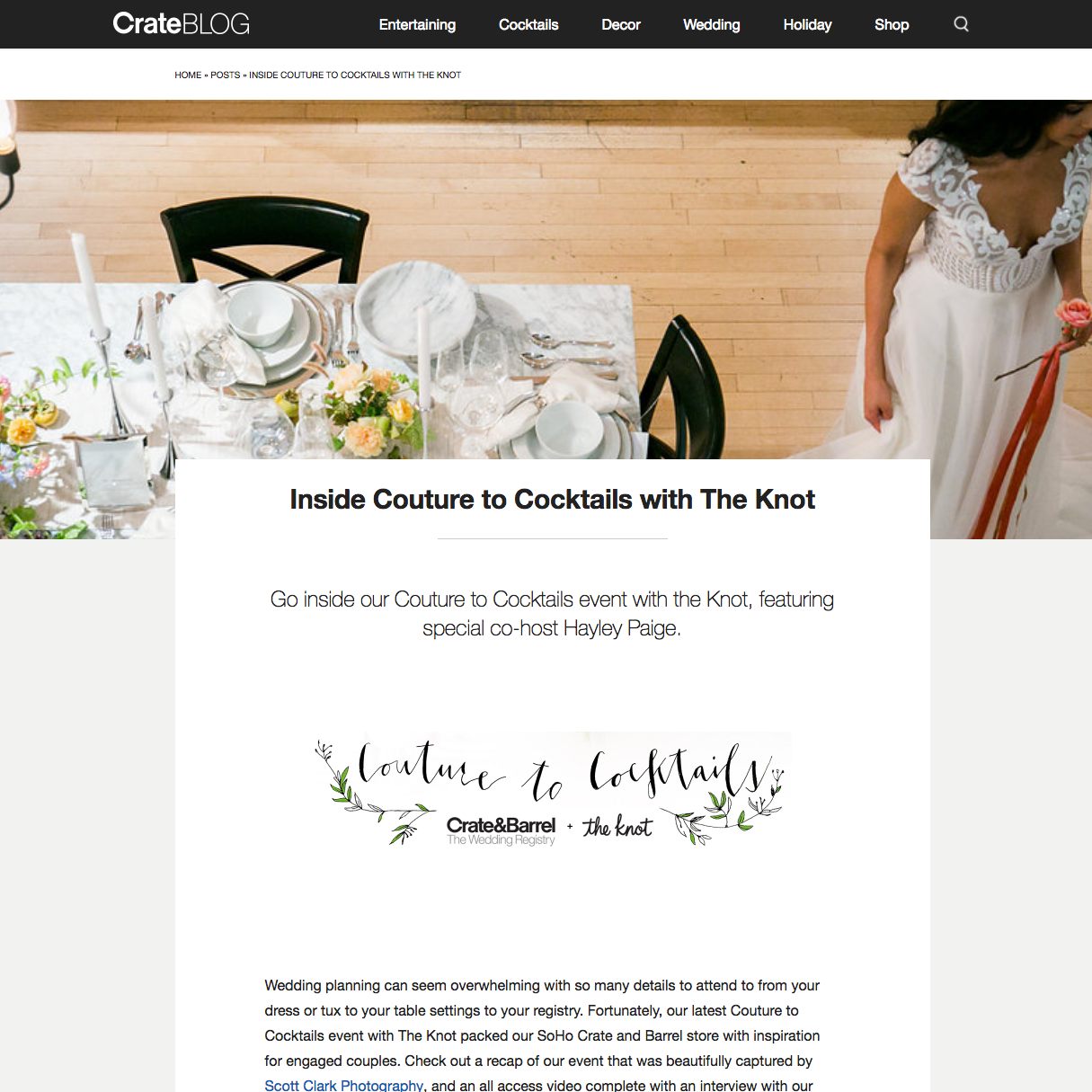 best event planner jove meyer planned a wedding event with crate and barrel