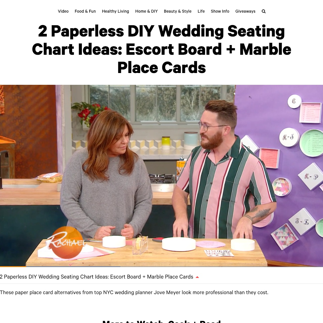 wedding expert featured on rachael ray show