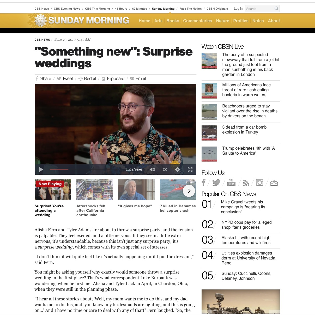 wedding expert jove meyer on cbs sunday morning