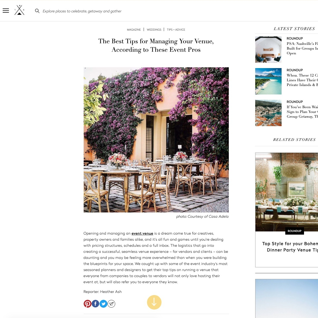 top wedding planner jove meyer featured in the venue report